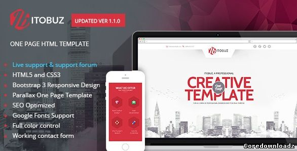 ITOBUZ - ONE PAGE responsive HTML5 template